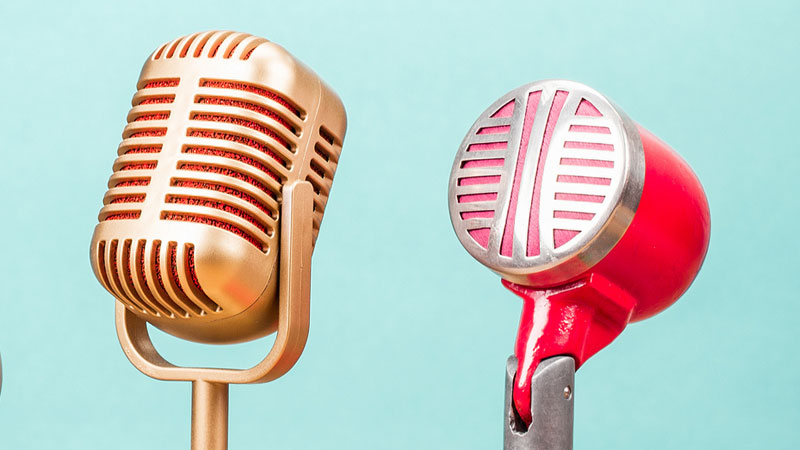 old fashioned microphones