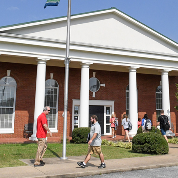 Lewisburg Campus with people outside