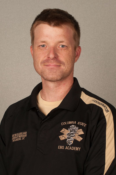Eric McCullough, CState EMT assistant professor