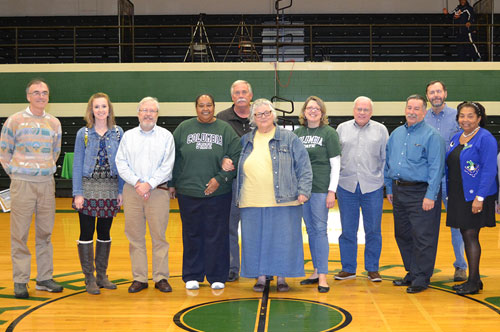 several faculty, staff acknowledged at game